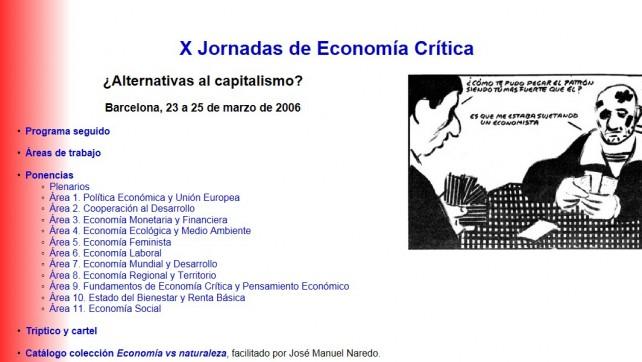X Jornadas de Economía Crítica