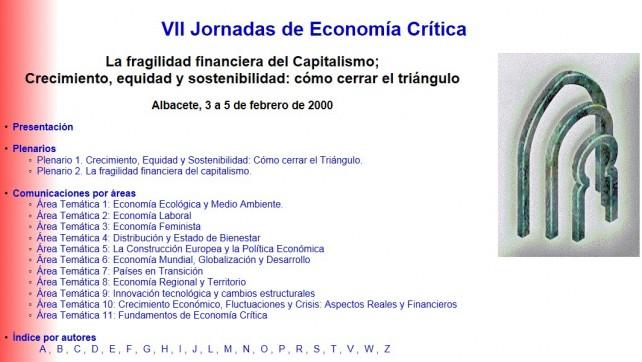 VII Jornadas de Economía Crítica