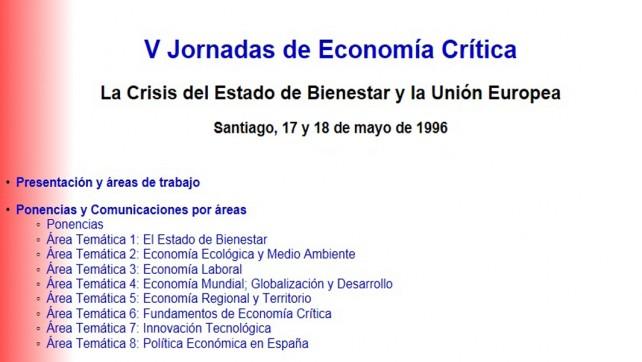 V Jornadas de Economía Crítica