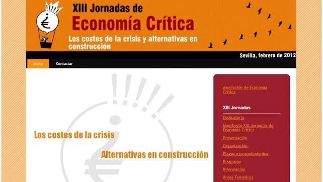 XIII Jornadas de Economía Crítica