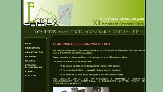 XII Jornadas de Economía Crítica