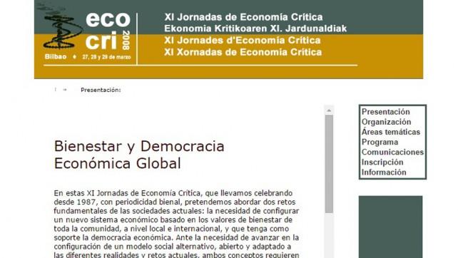 XI Jornadas de Economía Crítica