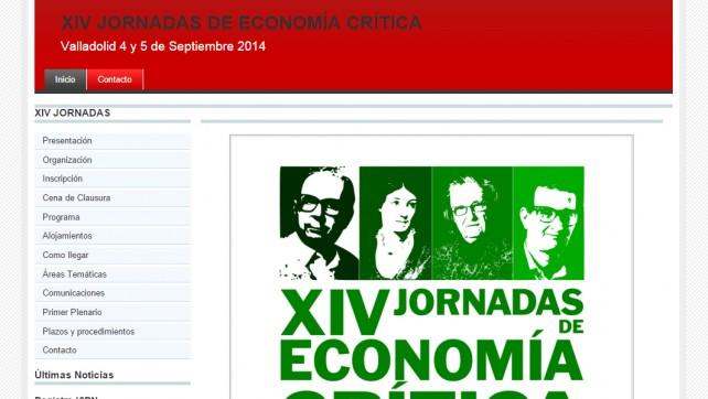 XIV Jornadas de Economía Crítica