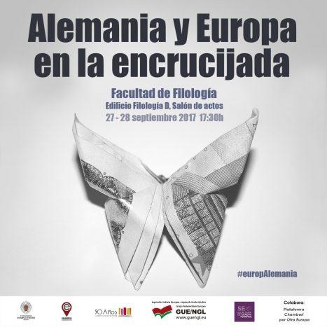 """Encuentro """"Alemania y Europa en la encrucijada"""" en la UCM 27-28 Septiembre"""