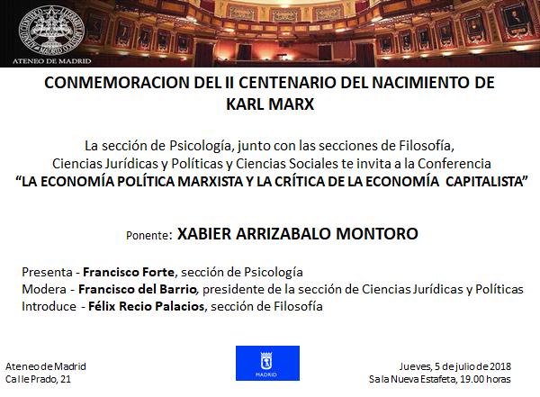 """Conferencia """"La economía política marxista y la crítica de la economía capitalista"""""""